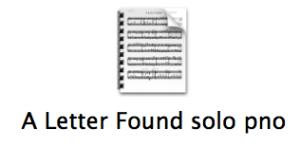 A Letter Found Solo Piano